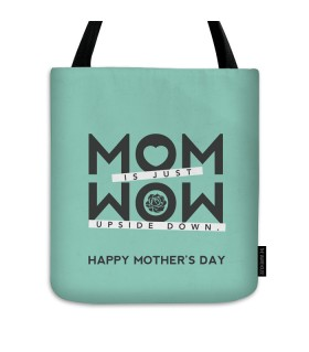 mom is just wow printed tote bag