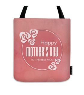 the best mom printed tote bag