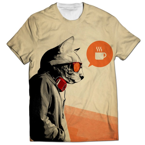 Agent Cat All Over Printed T-Shirt