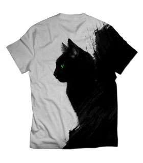 Halloween Kitten all over printed t-shirt