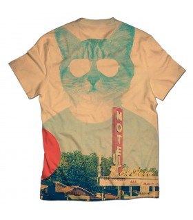 cool cat all over printed t-shirt