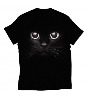 digital cat all over printed t-shirt