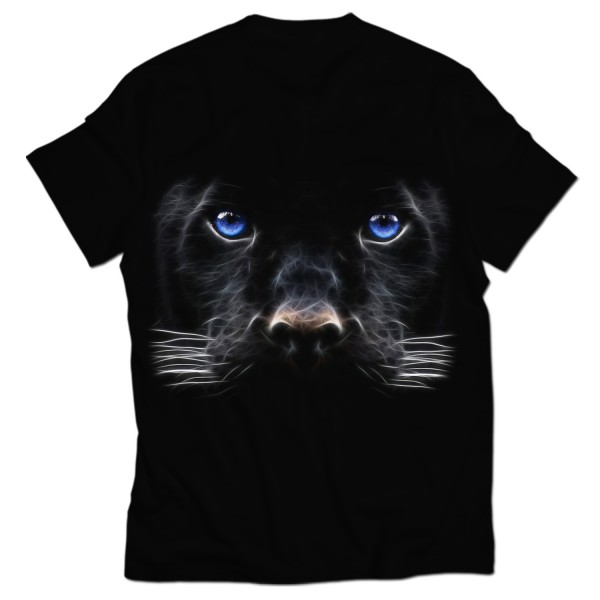 digital dog all over printed t-shirt