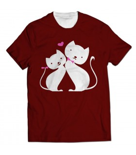 lovely cats all over printed t-shirt