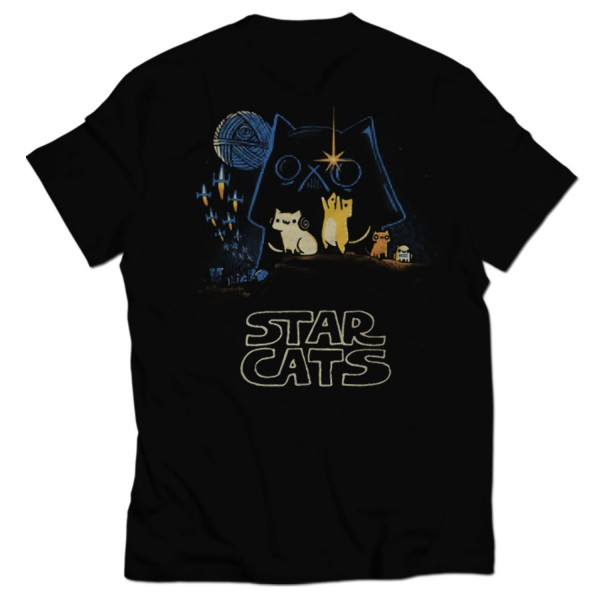 star cat all over printed t-shirt
