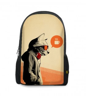 Agent cat printed backpacks