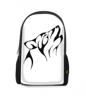 Cat wolf printed backpacks