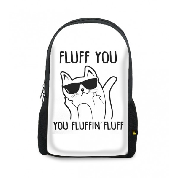 fluff you printed backpacks