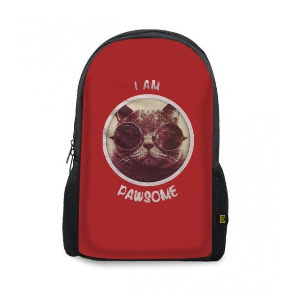 i am pawsome printed backpacks