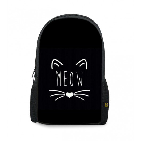 meow printed backpacks