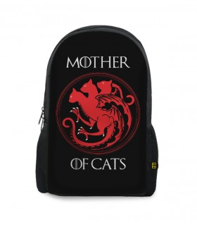 mother of cats printed backpacks