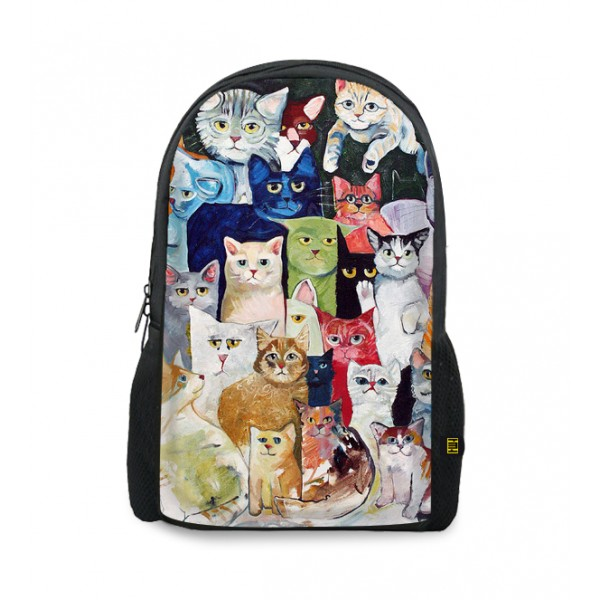 muitos gatos printed backpacks