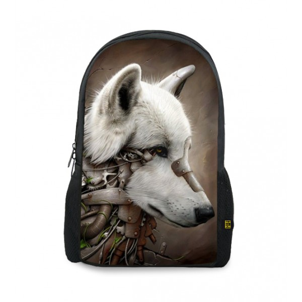 robot dog printed backpacks