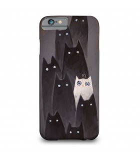 Black and White Cats printed mobile cover