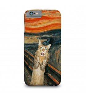 Cat painting printed mobile cover