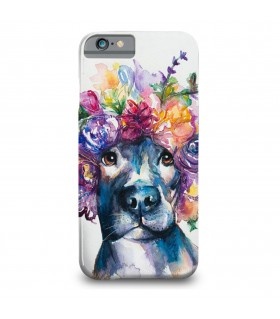 Floral dog printed mobile cover