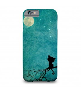 Lonely cat printed mobile cover