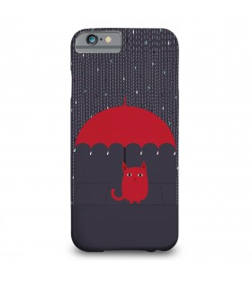 Rain cat printed mobile cover