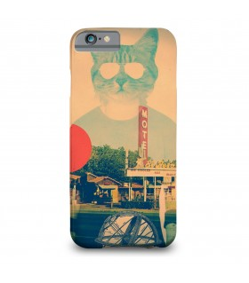 cool cat printed mobile cover