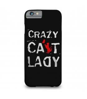 crazy cat printed mobile cover