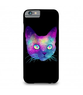 galaxy cat printed mobile cover