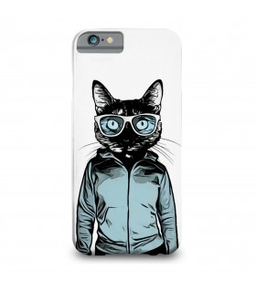 glasses cat printed mobile cover