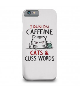 i run on caffeine printed mobile cover