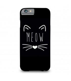 meow printed mobile cover