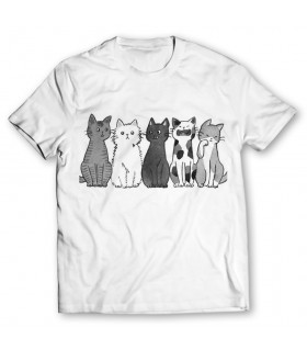 cat gang printed graphic t-shirt