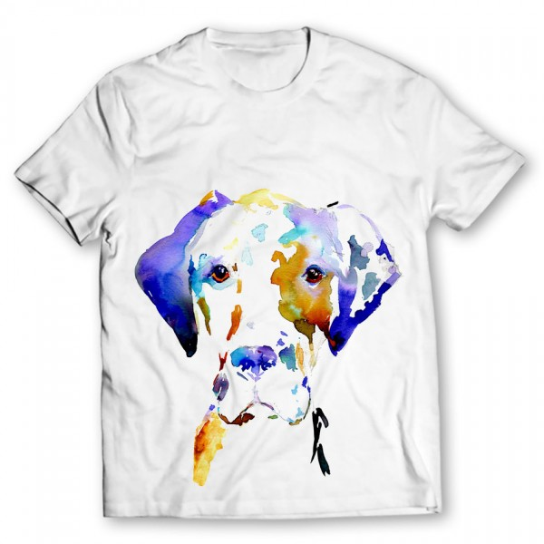 dog printed graphic t-shirt
