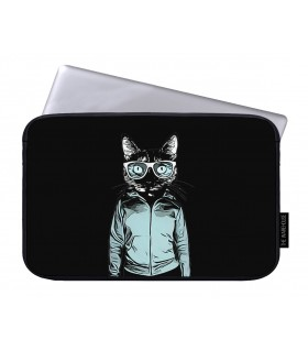 Agent cat printed laptop sleeves