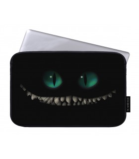 Creepy cat printed laptop sleeves