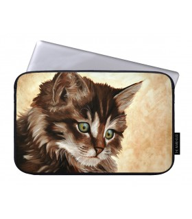 Little Cat printed laptop sleeves