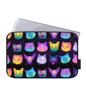 galaxy cats printed laptop sleeves