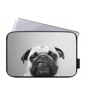 pug printed laptop sleeves