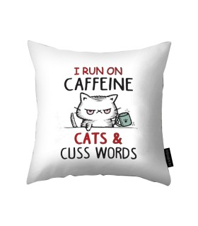 caffeine printed pillow