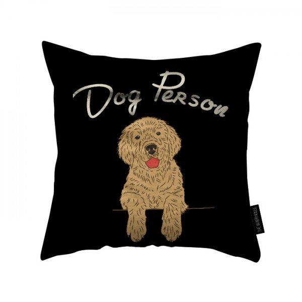 dog person printed pillow