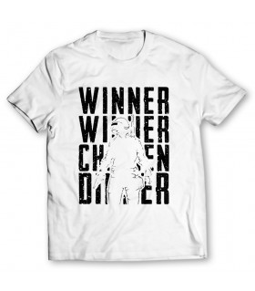 winner chicken printed graphic t-shirt