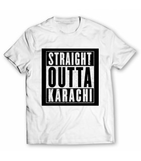 straight outta karachi printed graphic t-shirt