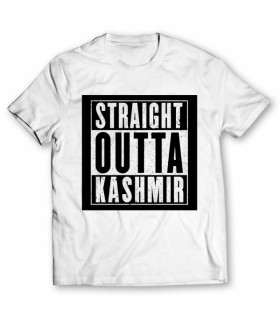 straight outta kashmir printed graphic t-shirt