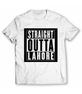 straight outta lahore printed graphic t-shirt
