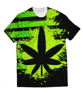 Marijuana all over printed t-shirt
