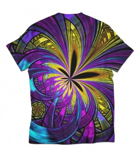 abstract weed all over printed t-shirt