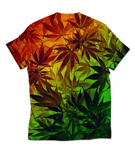 ganja weed all over printed t-shirt
