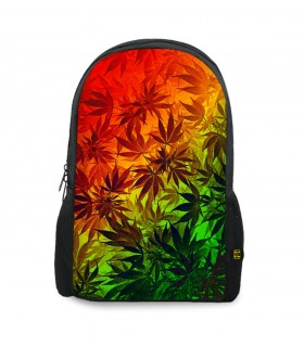ganja weed printed backpacks