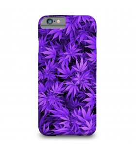 Purple weed printed mobile cover