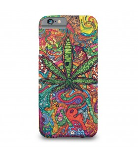 Weed Psychedelic printed mobile cover