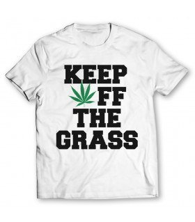 Keep off the grass printed graphic t-shirt