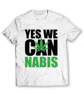 Yes we cannabis printed graphic t-shirt
