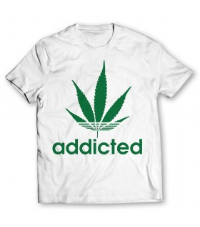 addicted printed graphic t-shirt